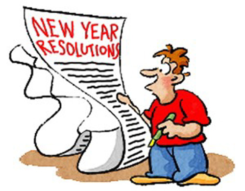 New Years Resolution - 1 free clip art